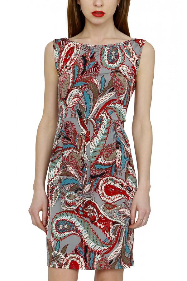 Платье летнее без рукавов и открытой спиной