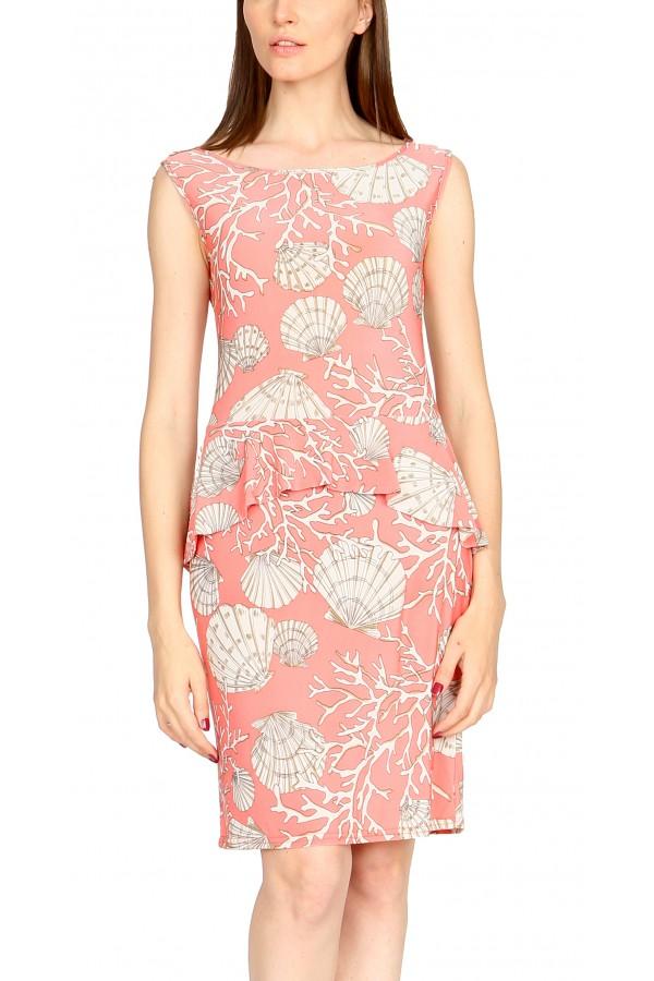 Платье с ассиметричной баской.