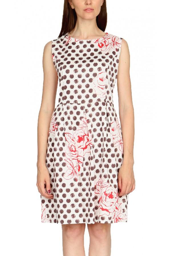 Платье в горох с цветком
