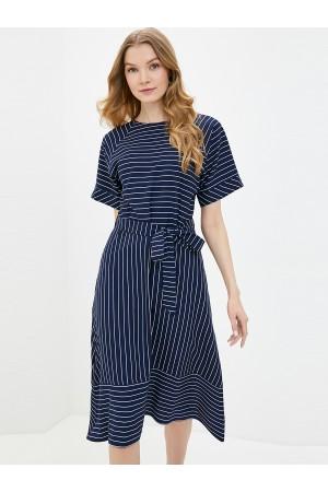 9684 Платье летнее в полоску