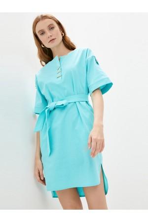 9683 Платье-туника изо льна
