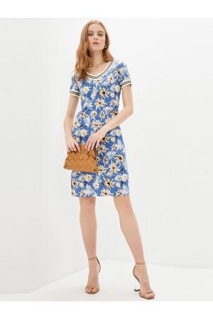 9685 Платье-футляр льняное