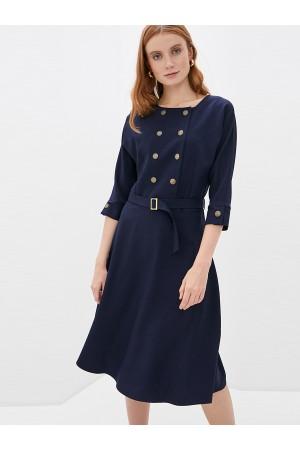 9681 Платье двубортное