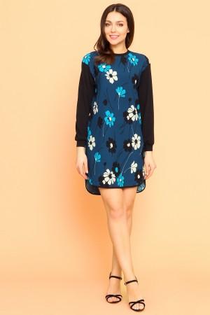9902 Платье-туника в цветок