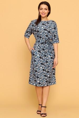 9906 Платье миди с рукавом 3/4.