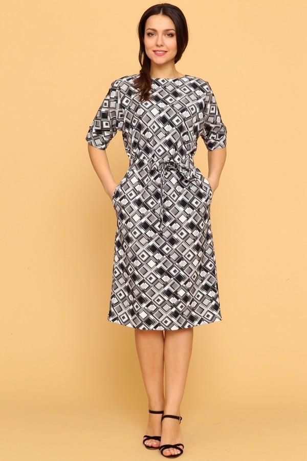 9909 Платье миди с рукавом 3/4.