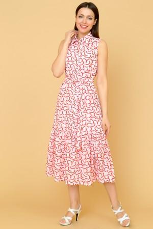 9855 Летнее платье с воланом.