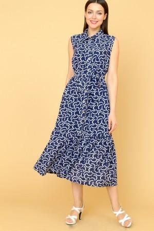 9854 Летнее платье с воланом