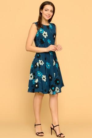 9875 Платье приталенное с отрезным лифом.