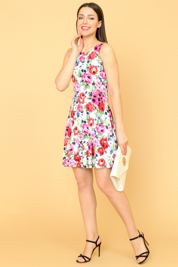 9873 Летнее платье с широкой юбкой