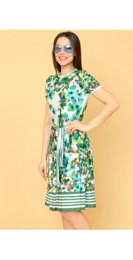 9863 Платье с цветочным узором