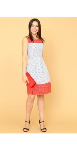 9865 Платье летнее в горох