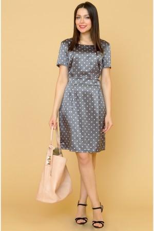 9867 Летнее платье в горох