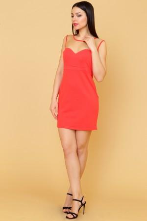 9883 Платье-мини красное