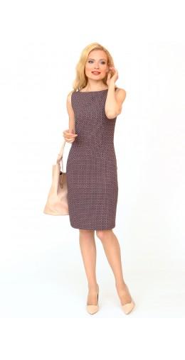 9850 Платье-футляр демисезонное