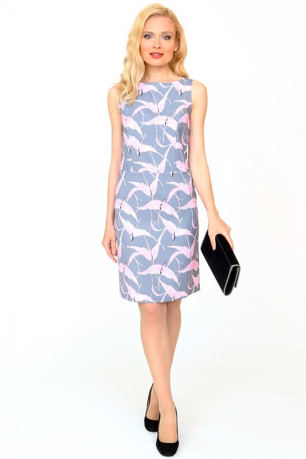 9851 Платье-футляр демисезонное