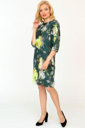 9846 Платье прямое демисезонное