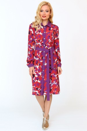 9839 Платье-рубашка демисезонное