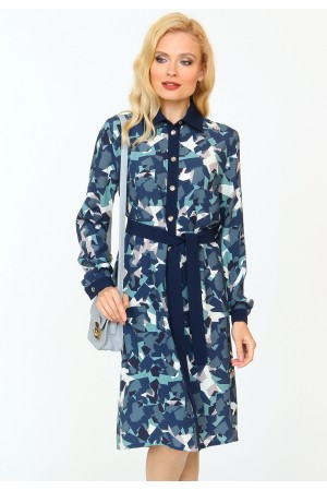 9840 Платье-рубашка демисезонное