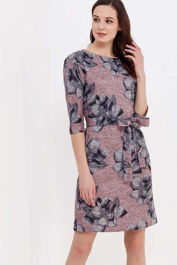 9829 Платье из трикотажа с люрексом.