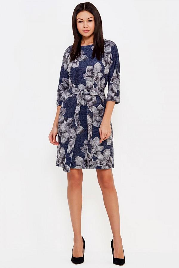 9827 Платье из трикотажа с люрексом.
