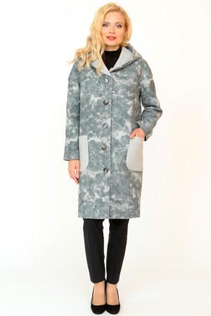 9842 Пальто прямое с капюшоном демисезонное