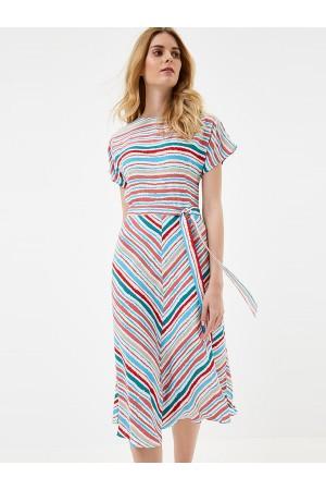 9670 Платье в полоску