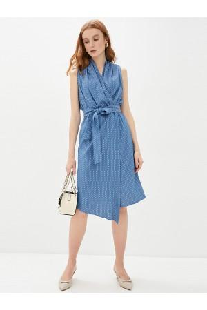 9686 Платье летнее в горох