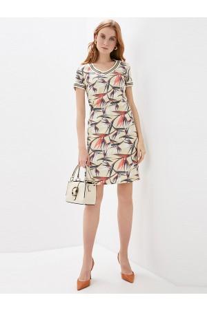 9674 Платье-футляр льняное