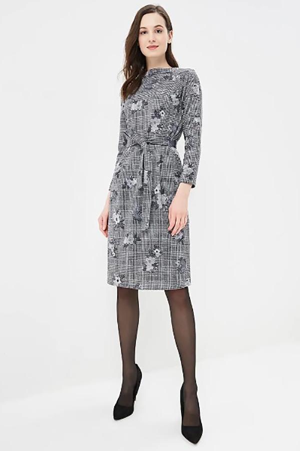 9747 Платье в клетку