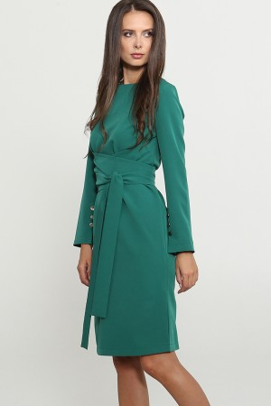 9771 Платье с широким поясом