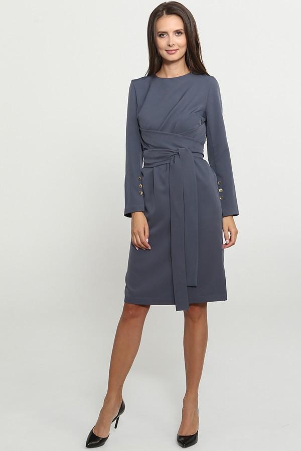 9769 Платье с широким поясом