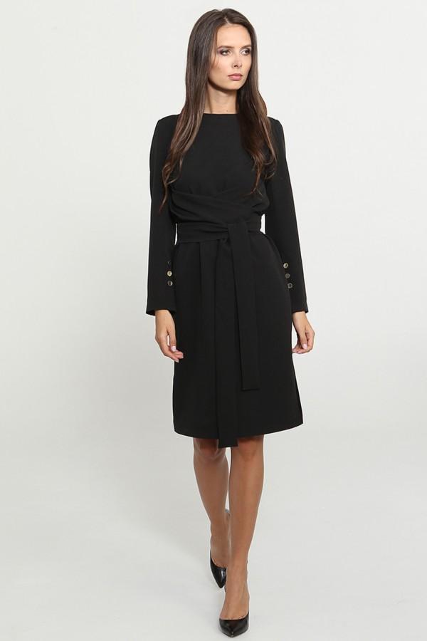9770 Платье с широким поясом