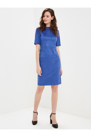 9717 Платье-футляр из замши
