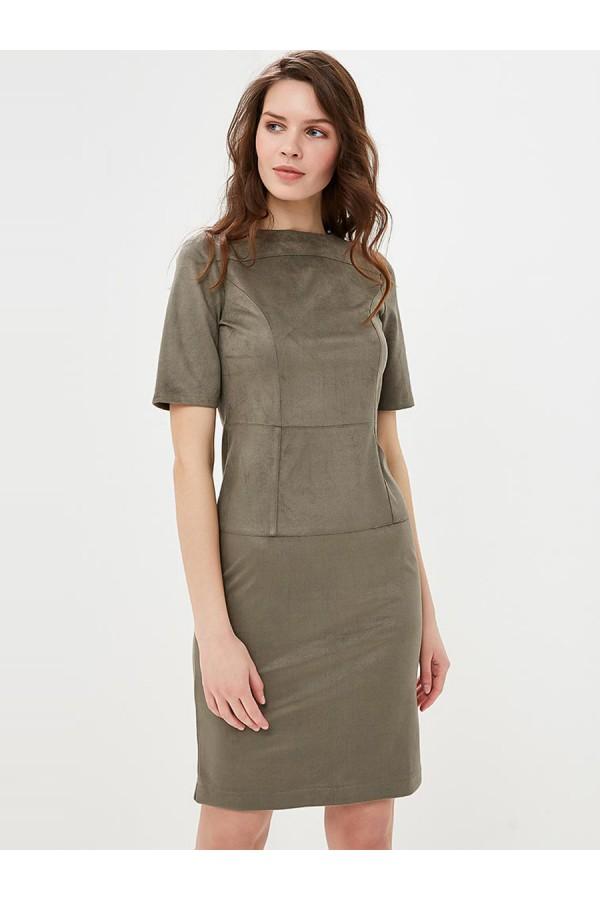 9719 Платье-футляр из замши