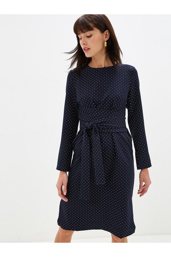 9690 Платье в горох