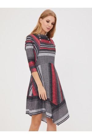 9626 Платье с ассиметричной юбкой