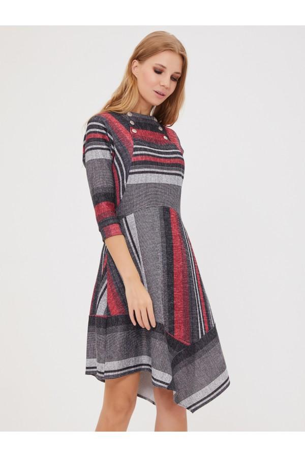 9526 Платье с ассиметричной юбкой