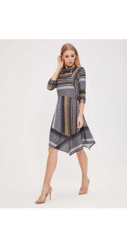 9527 Платье с ассиметричной юбкой
