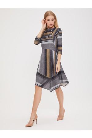 9627 Платье с ассиметричной юбкой