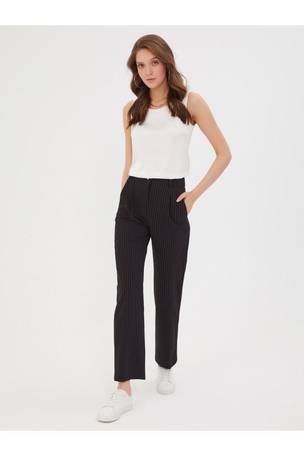 9540 брюки классические в полоску