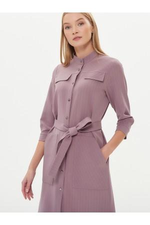 9631 Платье-рубашка в полоску