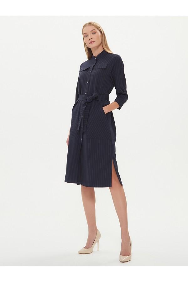 9533 Платье-рубашка в полоску