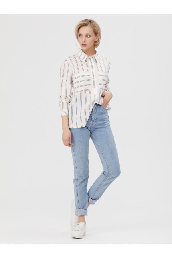 9651 Рубашка в полоску