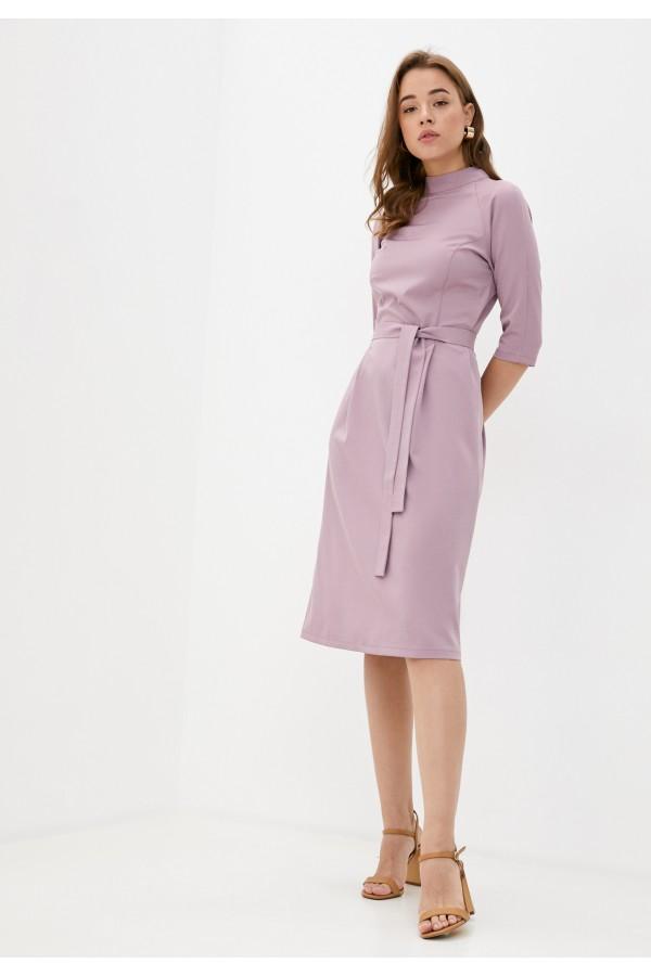 9535 Платье с воротником стойка