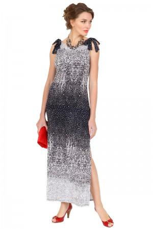 Длинное платье с бантами