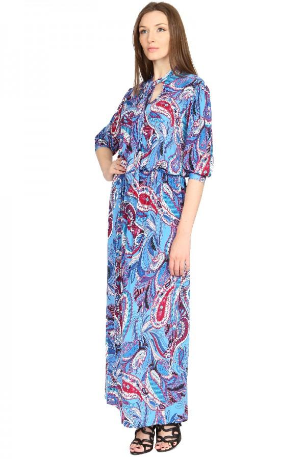 """Длинное платье с рисунком """"пэйсли"""""""