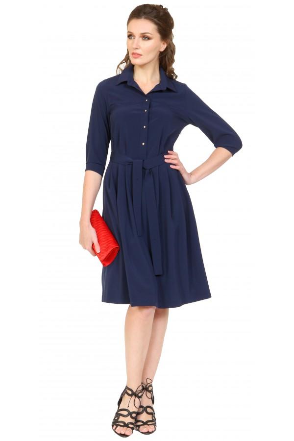 9991 Платье с рубашечной застежкой