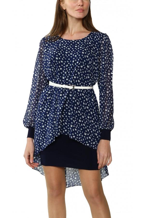 """Платье с эффектом """"блузка-юбка"""""""
