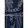 Сине-голубое теплое  платье